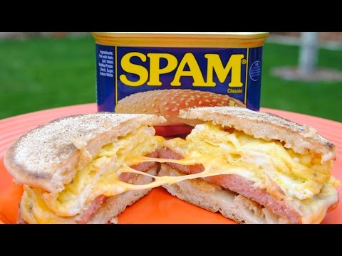 SPAM Breakfast Sandwich | Spam, Eggs, & Cheese