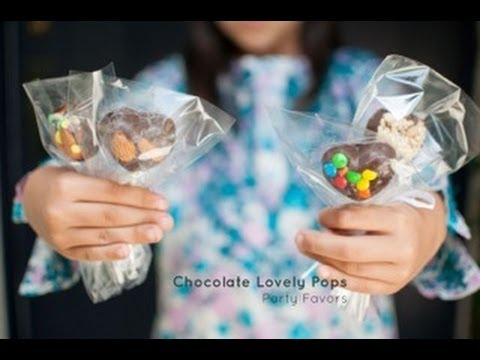 Perfect Party Favor: How to Make Chocolate Pops - by WondermintKids.com