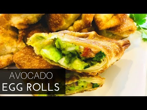 Awesome AF Avocado Egg Roll Recipe | ThymeWithApril