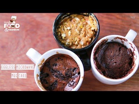 Eggless Mug Cakes || 2 Minute Microwave Mug Cakes || Eggless Cake || Microwave Cake  Recipe