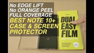 Best Galaxy Note 10 Plus Screen Protector Thin Case how to install Ringke Easy film Air Spigen Glass