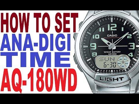 Setting Casio AQ-180W manual for use