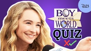 Boy Meets World Trivia Quiz with the Cast of Girl Meets World | D23's Ultimate Disney Fan Quiz