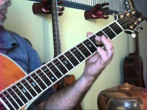 Colin Hay- I just don't think I'll ever get over you-Tutorial 6 and 12 string. (DADGAD) tuning
