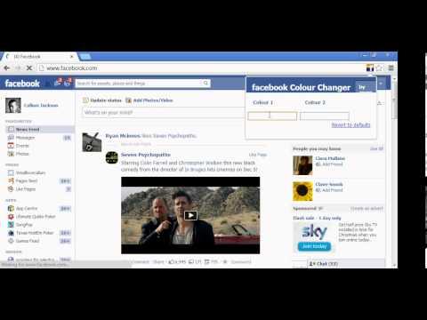 Facebook colour changer (Google Chrome)