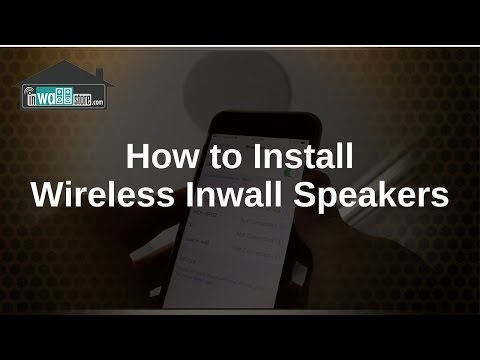 How to install wireless inwall speakers