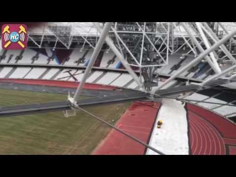 Latest birdseye view of Olympic Stadium Stratford