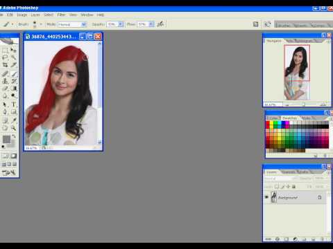 Change your Hair color using Adobe Photoshop CS2