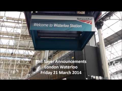 London Waterloo, station announcements