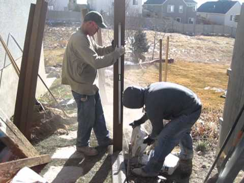 Trex Fencing Installation - Dry bagging posts method