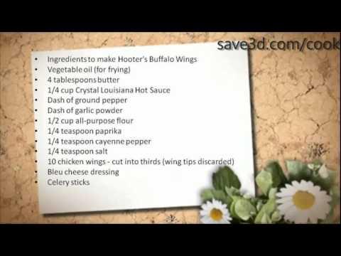Secret Recipe - How to make Hooter's Buffalo Wings (Copycat Recipes)
