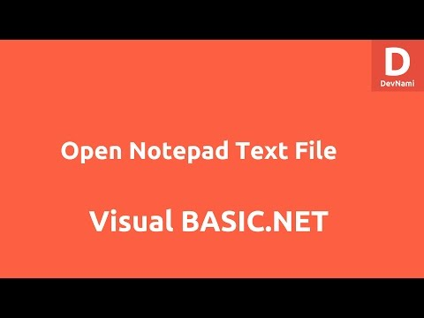 How To Make A Notepad In Visual Basic 2010 Express - Open Notepad