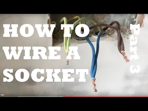 How to Wire a  Socket on a Ring Main (2 wires), Part 3 Metal Back Box