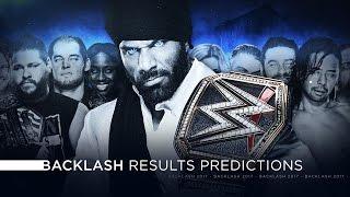 WWE Backlash 2017 - Results Predictions