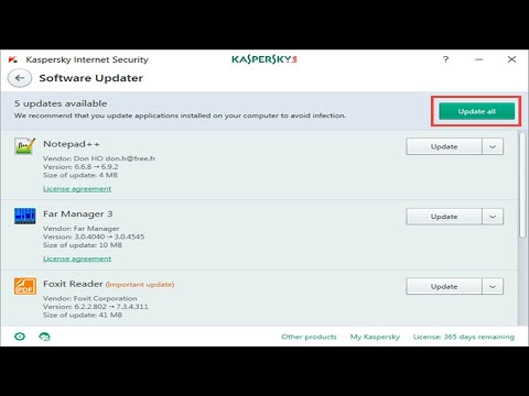 Kaspersky Software Updater Tool - Update All Your Software From One Place
