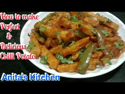 Perfect and Delicious Chilli Potato Recipe Chilli potato recipe - chili starter