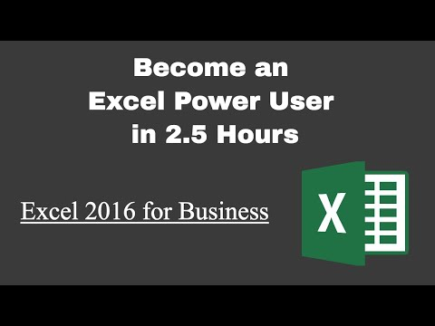 Welcome to the Course: Become an Excel Power User in 2.5 Hours