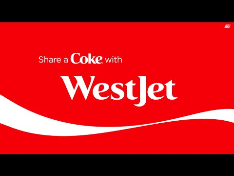 WestJet & Coca-Cola: #shareacokecanada plane