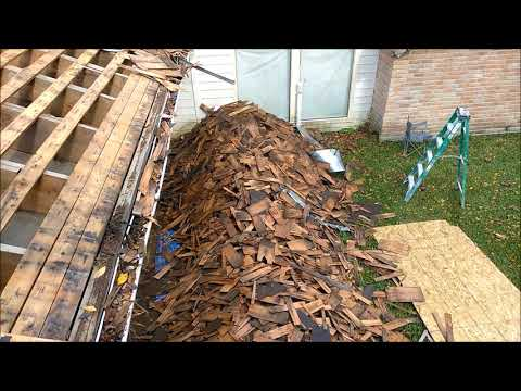 REMOVE REPLACE CEDAR WOOD SHAKE SHINGLES WITH ASPHALT SHINGLES