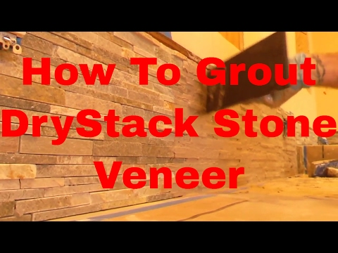 How To Grout Dry Stack Stone Veneer Tile Backsplash  Dave Blake License Tile Contractor