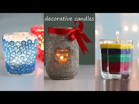 3 Easy Decorative Candles