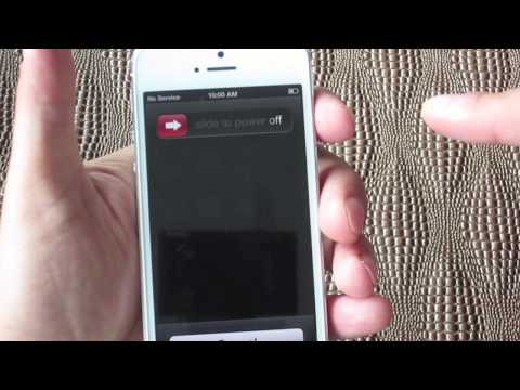 How To Turn On The iPhone 5 - How To Turn Off The iPhone 5