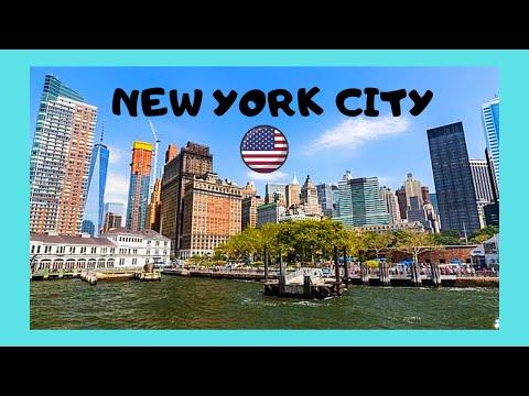 NEW YORK CITY, a tour around famous BATTERY PARK, USA
