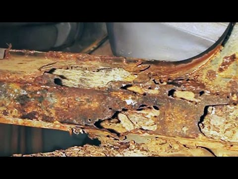 Repairing severe automotive body and frame rust at home.