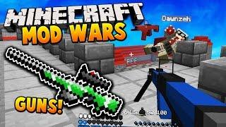 GUN MOD 2V2! | Minecraft MOD WARS! w/ LandonMC, Dawn & ItzMaxk (Flans Mod)