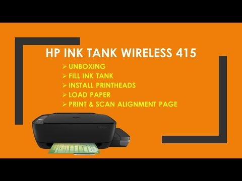 HP Ink Tank Wireless 410 | 415 | 310 | 315 | 318: Unboxing, Fill ink Tanks, Install printheads.