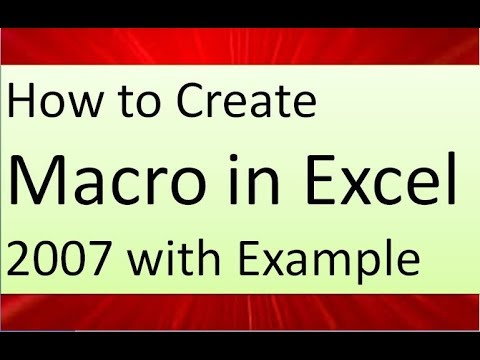 how to create macro in excel 2007 with example in english by technical vijay