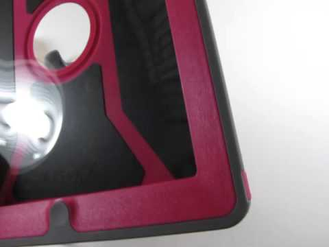 OtterBox Defender Series Pink & Grey Case For 4th Generation Ipad & Ipad 2 Stand