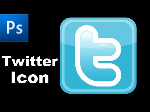 Photoshop Tutorial: Create a Twitter Icon  -HD-