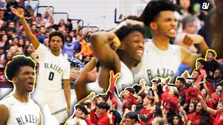 Sierra Canyon V Etiwanda SOLD OUT PLAYOFF GAME! CROWD FIGHT STOPS GAME! Bronny Gets MAJOR MINUTES!