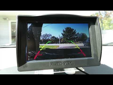How to Install a Wired Backup Camera: Auto-Vox M1 in a Toyota Corolla
