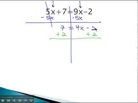 Solving Equations with Fractions - Variable on Both Sides