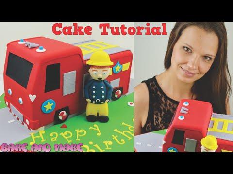 Fireman Sam Fire Truck Cake Tutorial. How to. Bake and Make with Angela Capeski