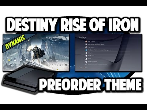 [PS4 THEMES] Destiny Rise of Iron Dynamic Preorder Theme Video in 60FPS