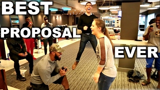 Football Superstar Magically Proposes To Girlfriend!