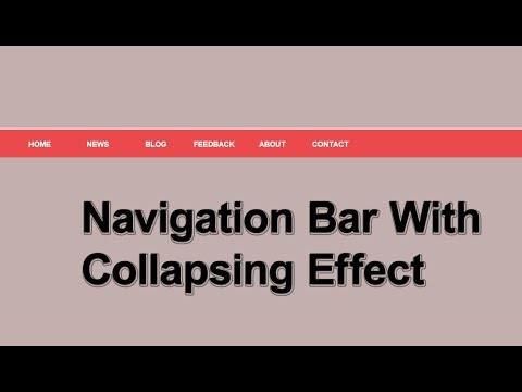 Navigation bar with collapsing effects