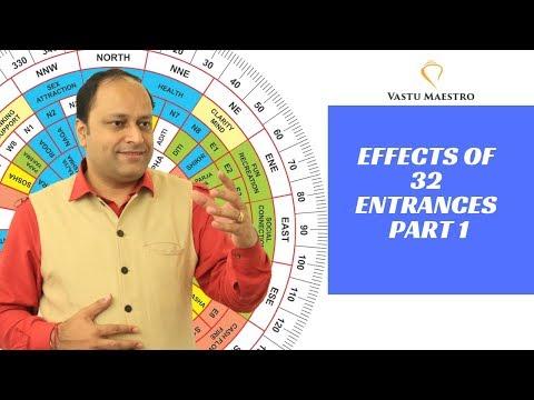 Vastu shastra tips for home - effect of 32 entrances (main door or gate )