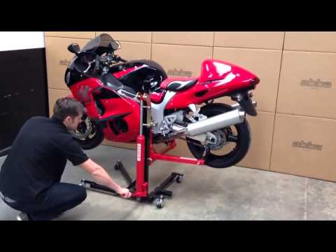 Abba Sky Lift Product Demonstration Video - SkyLift motorcycle lift / stand