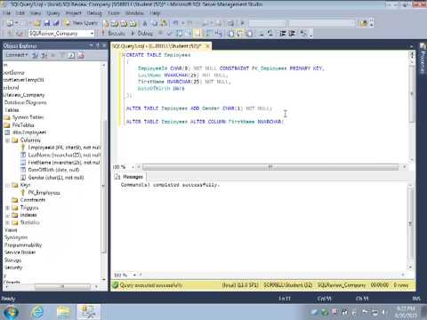 SQL Review Video 3: ALTER TABLE