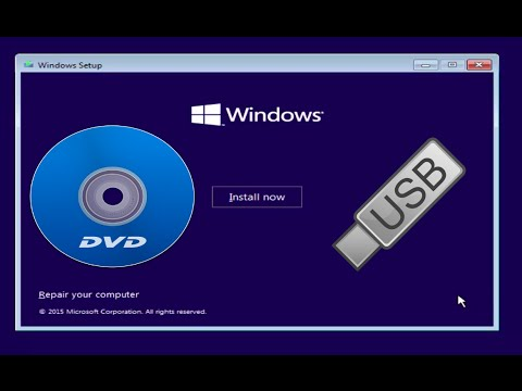 How to: Install Windows 10/8.1/7 from a DVD or USB drive