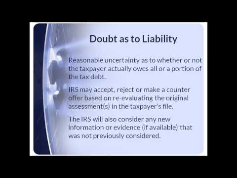 Negotiate IRS Settlement Doubt as to Liability