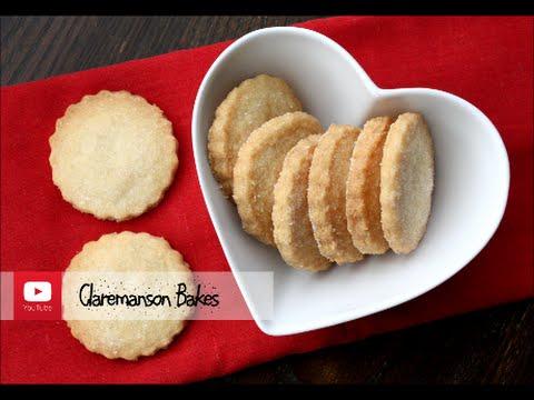 Easy 3 Ingredient Shortbread Cookie Recipe