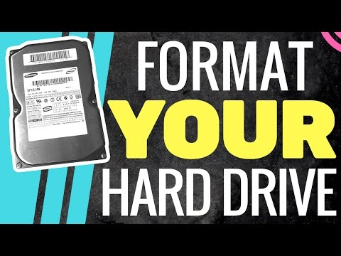 How To Format a Brand New Hard Drive | WINDOWS PC