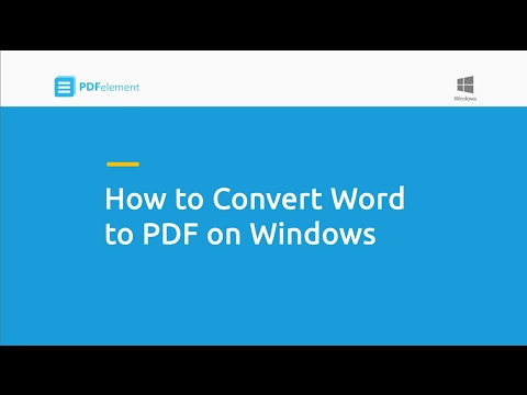 How to Convert Word to PDF on Windows