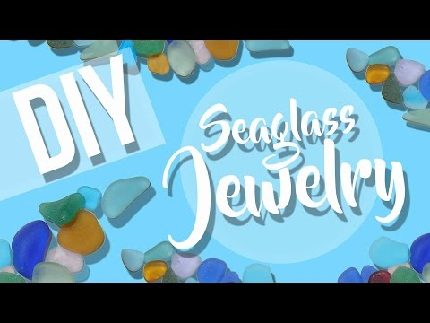 SEA GLASS JEWELRY Rings/Necklaces // DIY Fashion