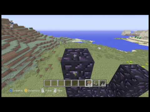 how to make a Nether portal in minecraft (10 blocks)